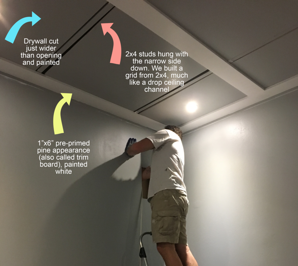 Diy Coffered Ceilings With Moveable Panels Renovation Semi Pros