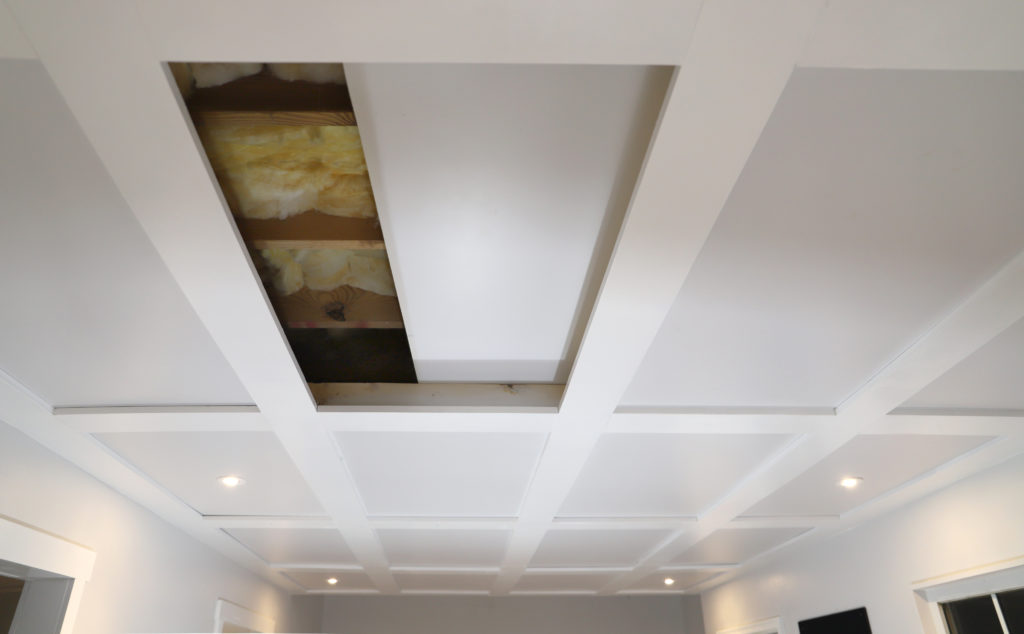 Diy Coffered Ceilings Moveable Panel Access