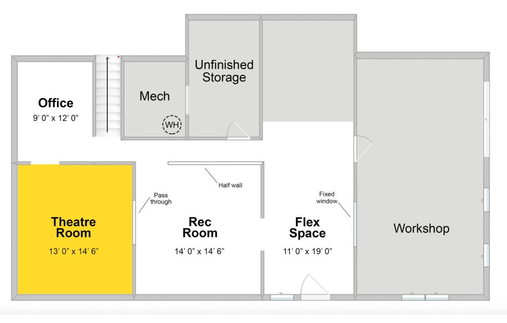 Basement Media Room Construction Renovation Semi Pros