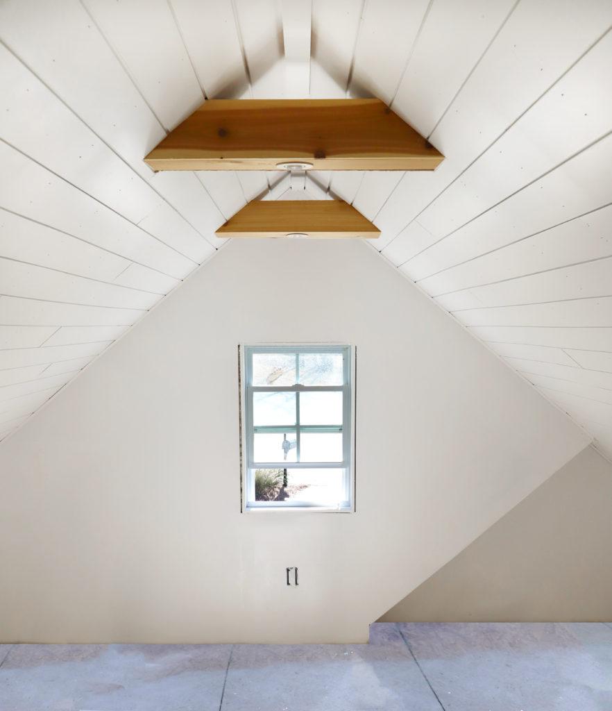 Attic Office Shiplap Ceiling Cedar